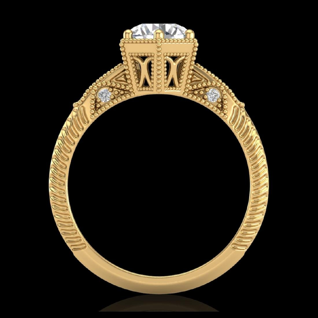 1.17 CTW VS/SI Diamond Solitaire Art Deco Ring 18K