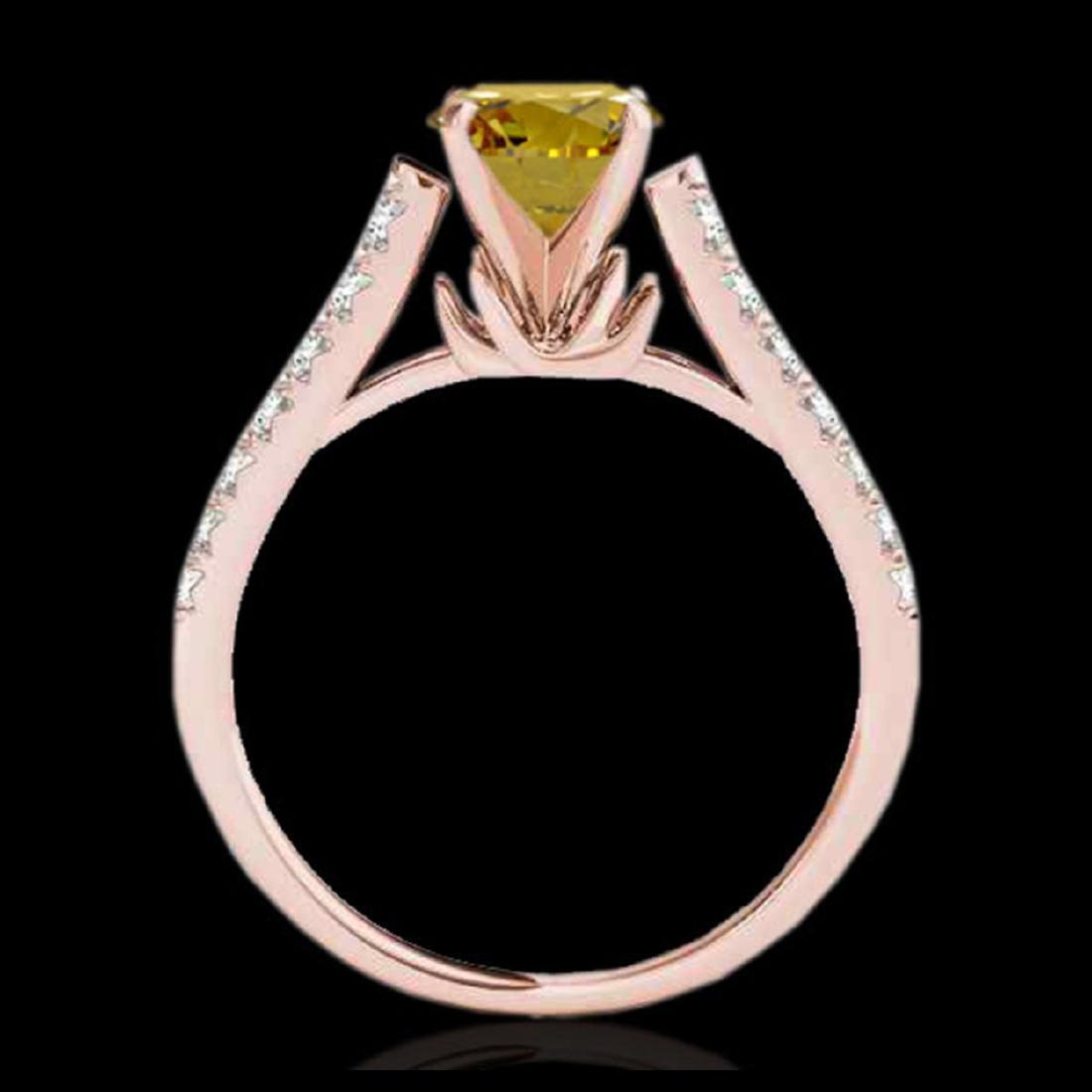 1.46 CTW Certified SI/I Fancy Intense Yellow Diamond - 2