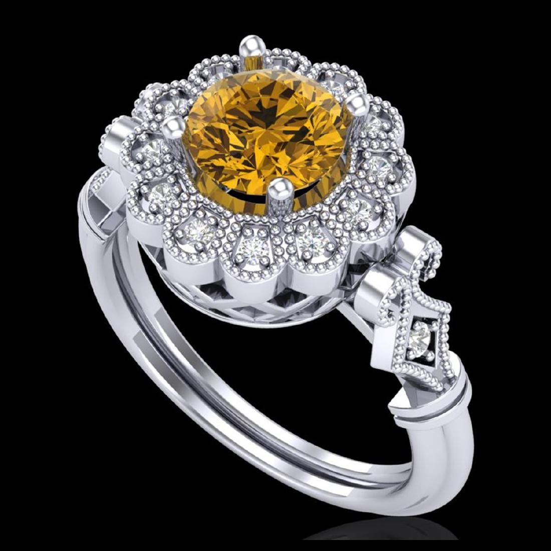 1.2 CTW Intense Fancy Yellow Diamond Engagement Art