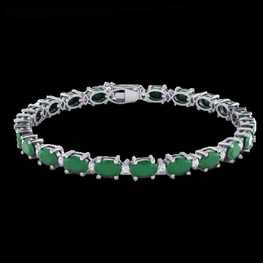 23.5 CTW Emerald & VS/SI Certified Diamond Eternity - 2