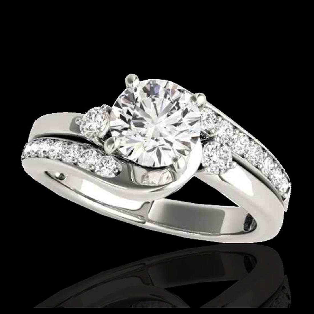 2 CTW H-SI/I Certified Diamond Bypass Solitaire Ring