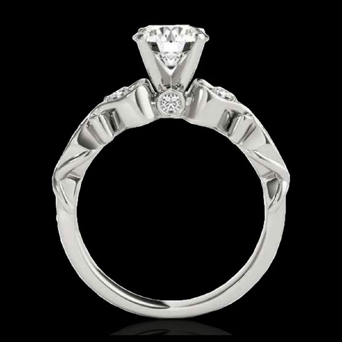 1.15 CTW H-SI/I Certified Diamond Solitaire Antique - 2