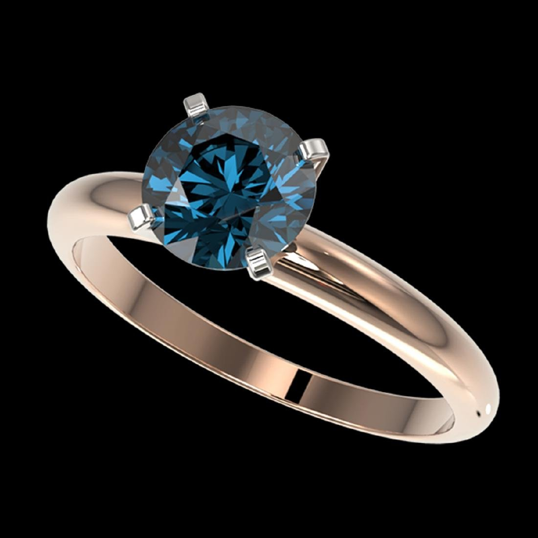 1.52 CTW Certified Intense Blue SI Diamond Solitaire