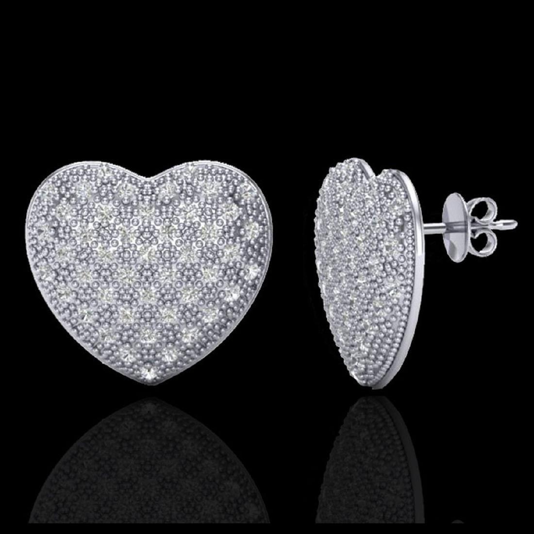 1.50 Designer CTW Micro Pave VS/SI Diamond Heart - 2