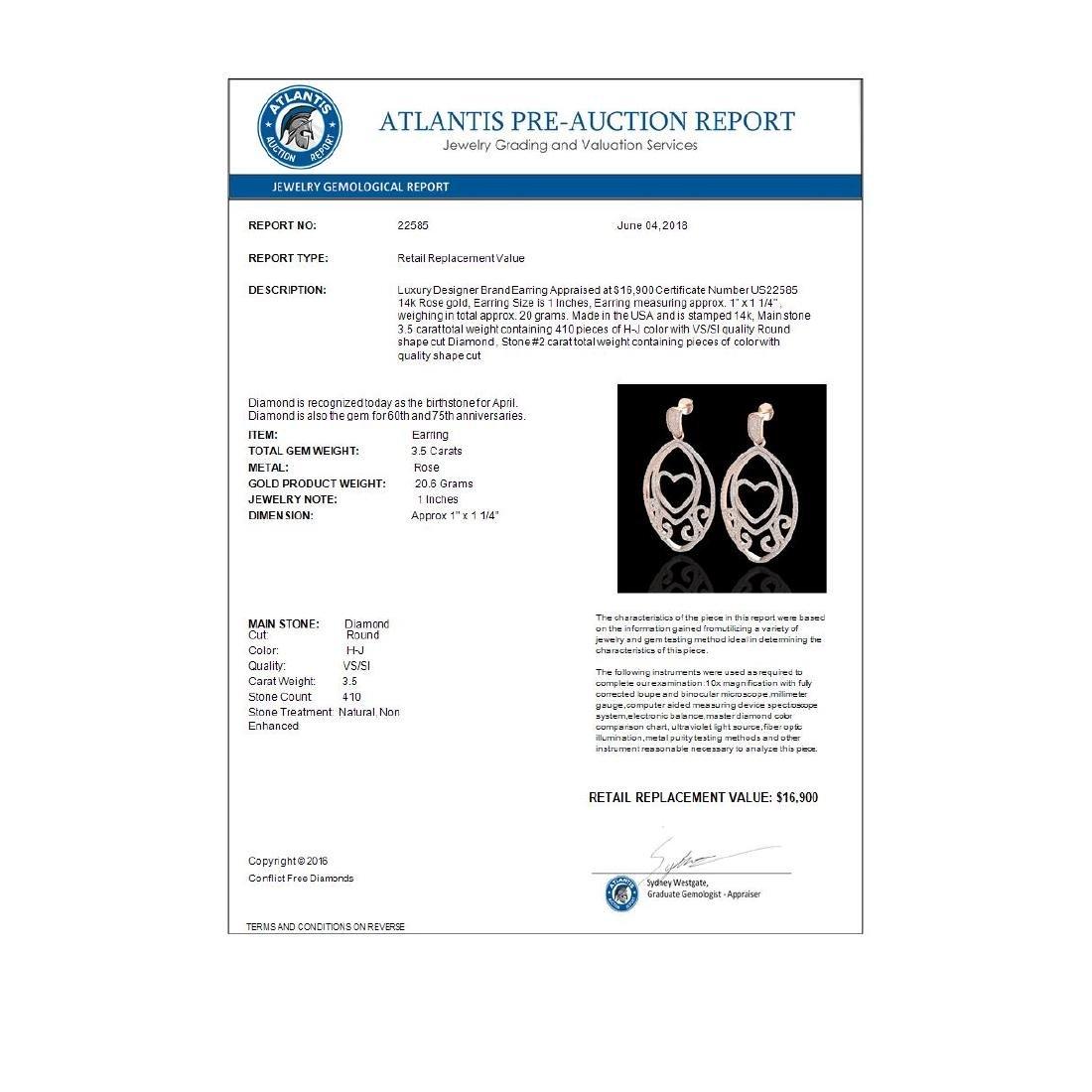 3.20 CTW Micro Pave VS/SI Diamond Designer Heart - 3