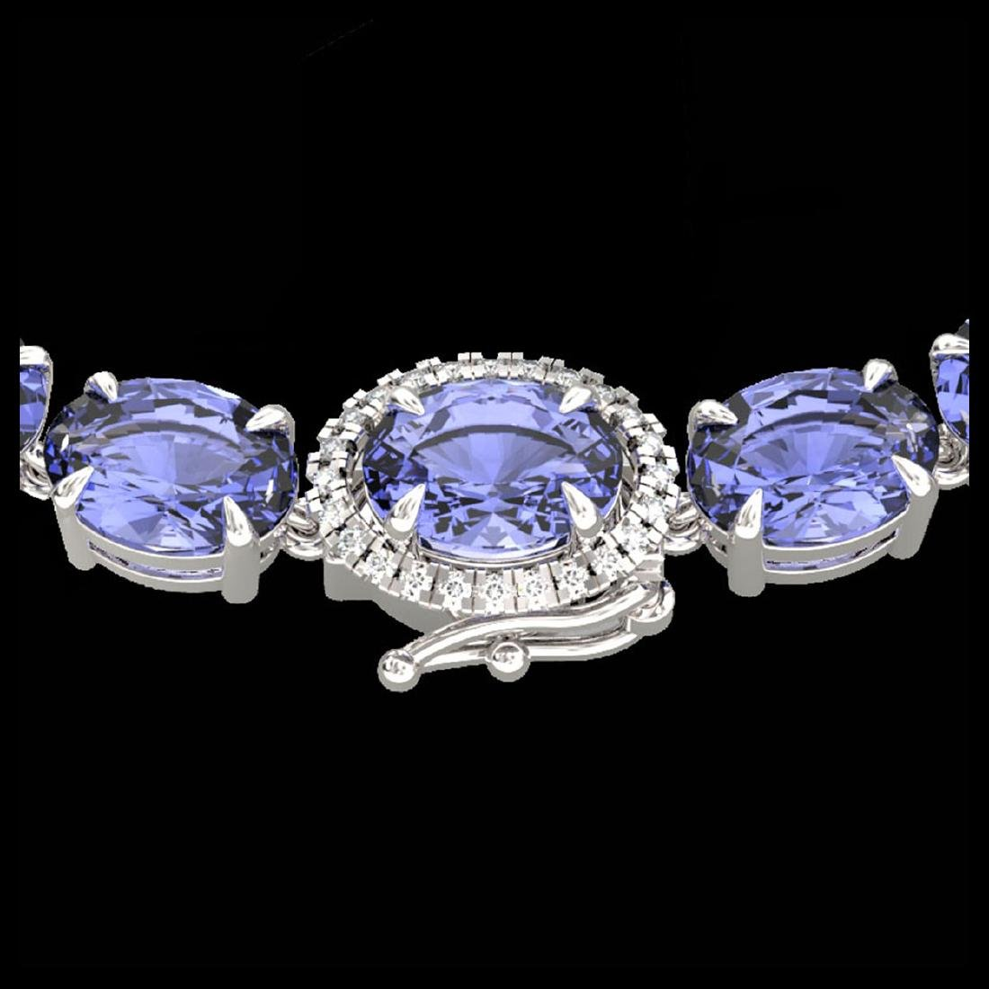 45.25 CTW Tanzanite & VS/SI Diamond Eternity Micro Halo