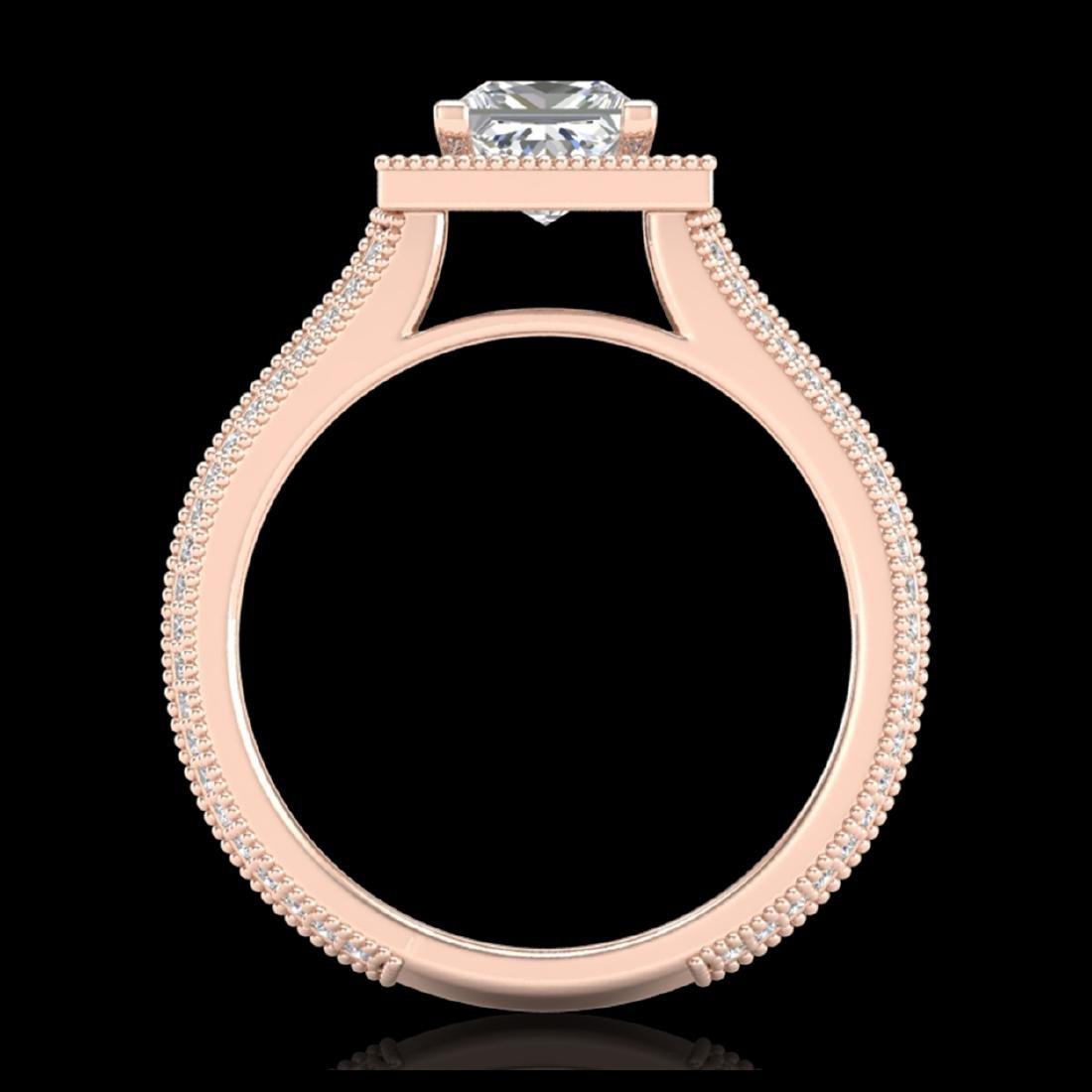 2 CTW Princess VS/SI Diamond Solitaire Micro Pave Ring