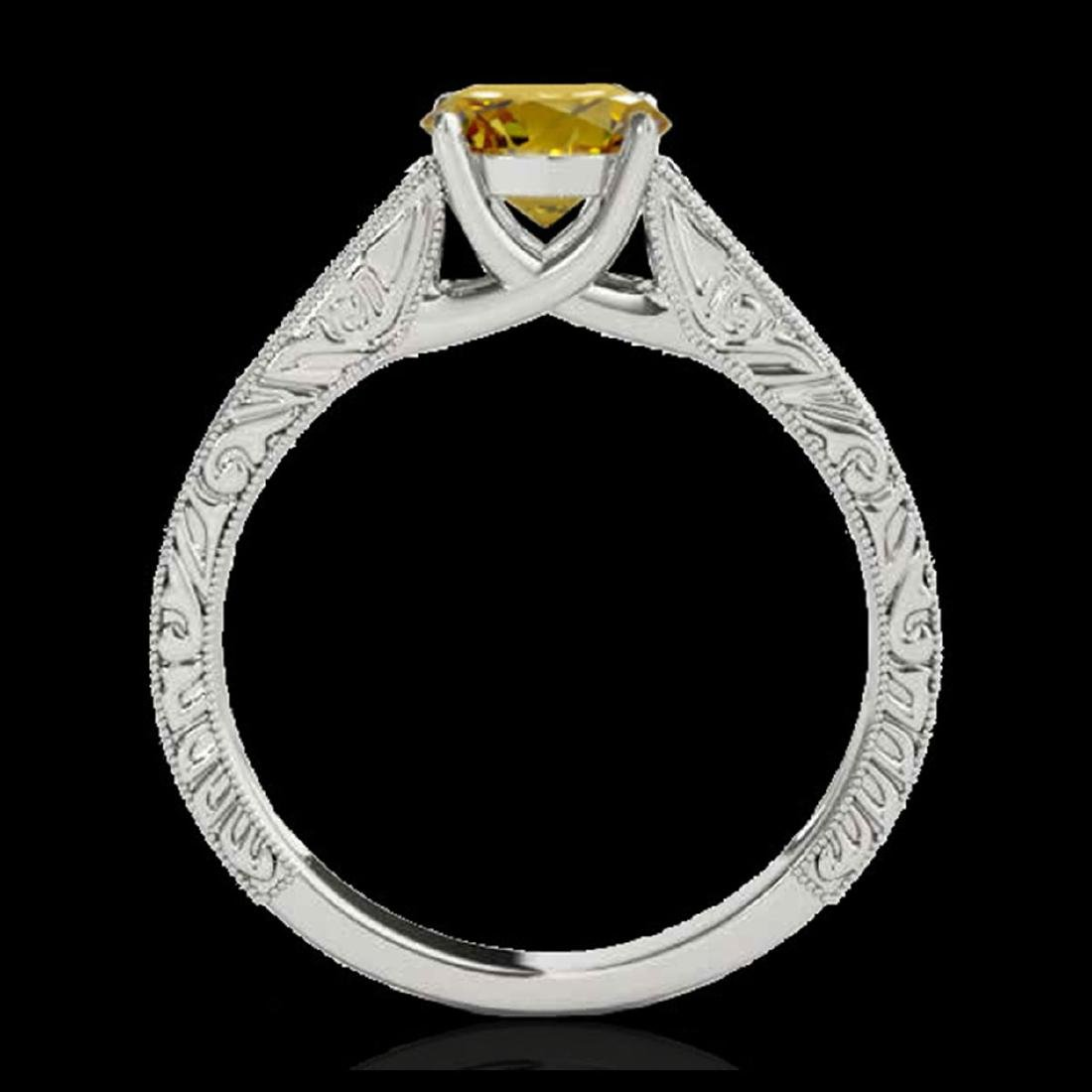 1 CTW SI/I Fancy Intense Yellow Diamond Solitaire Ring - 2