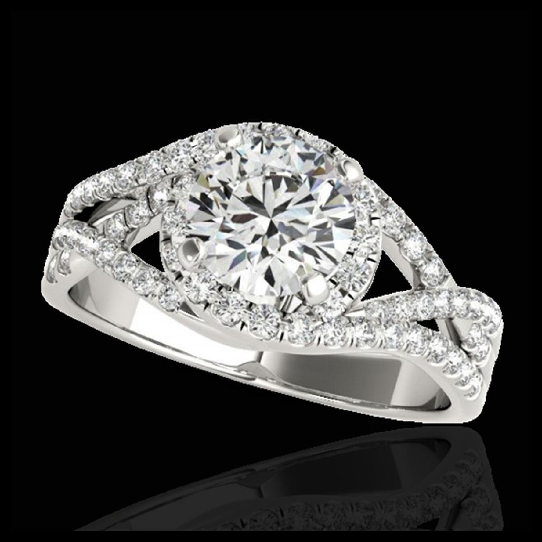 2 CTW H-SI/I Diamond Solitaire Halo Ring Gold -