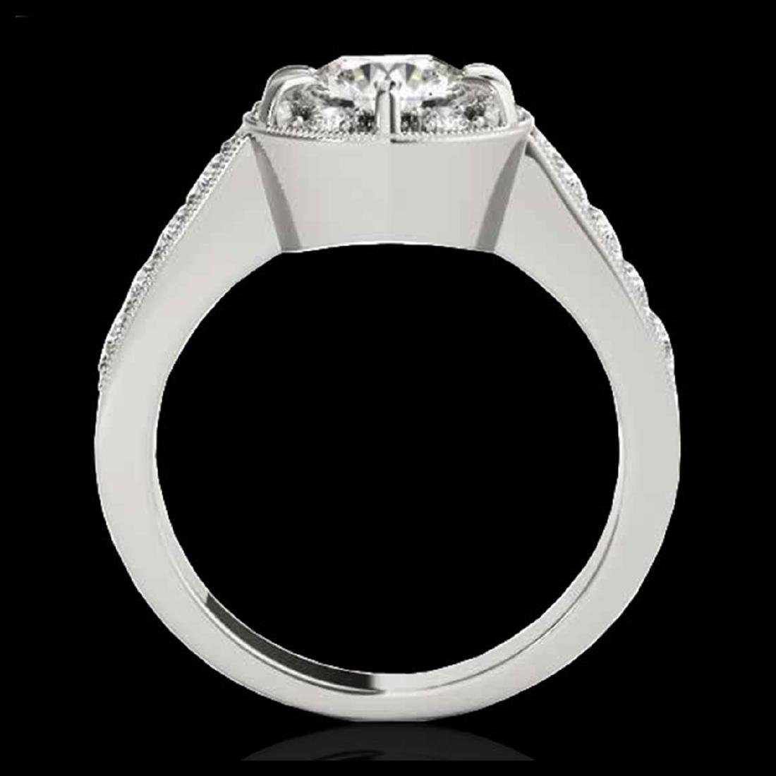 2 CTW H-SI/I Diamond Solitaire Halo Ring Gold - - 2