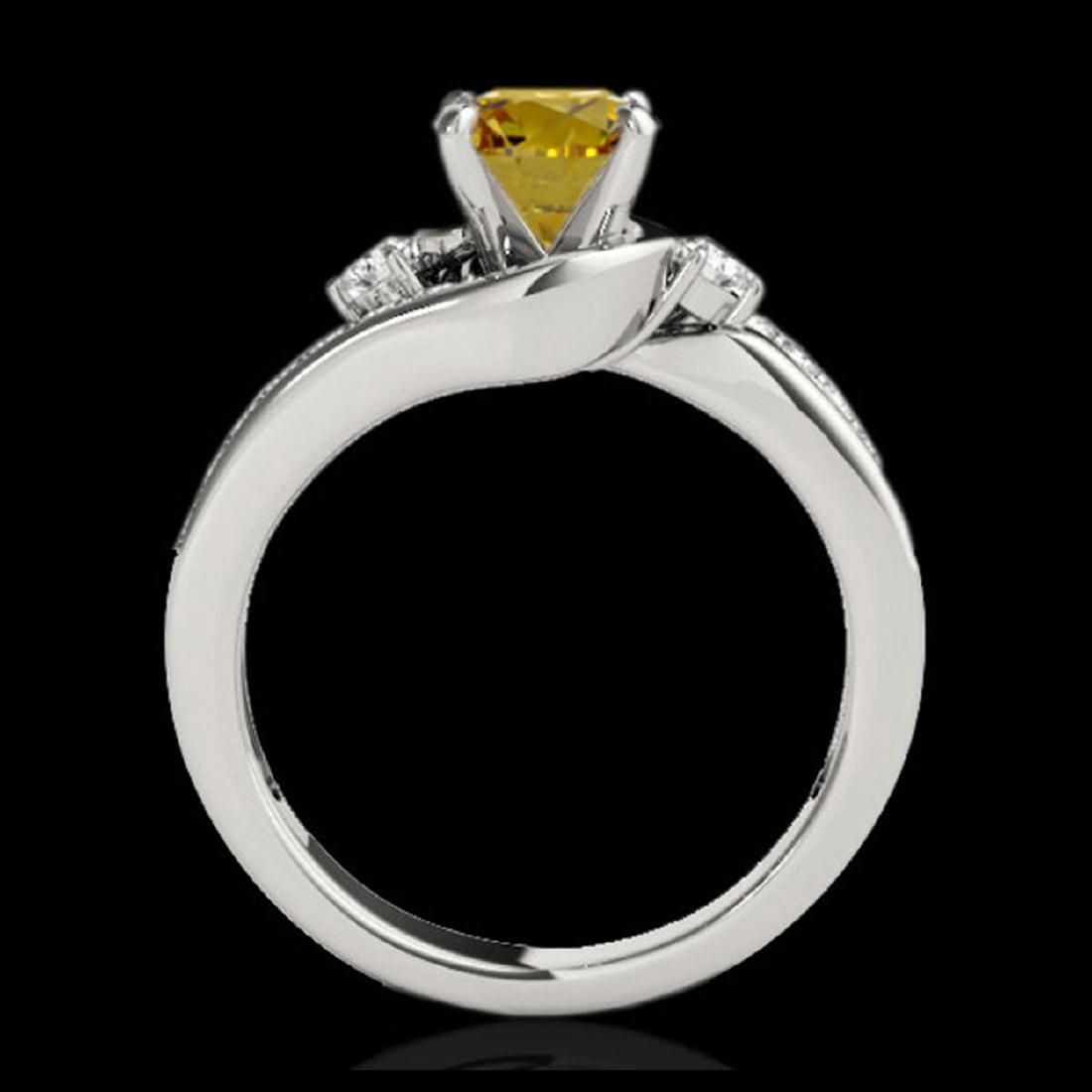 2 CTW SI/I Fancy Intense Yellow Diamond Bypass Ring - 2