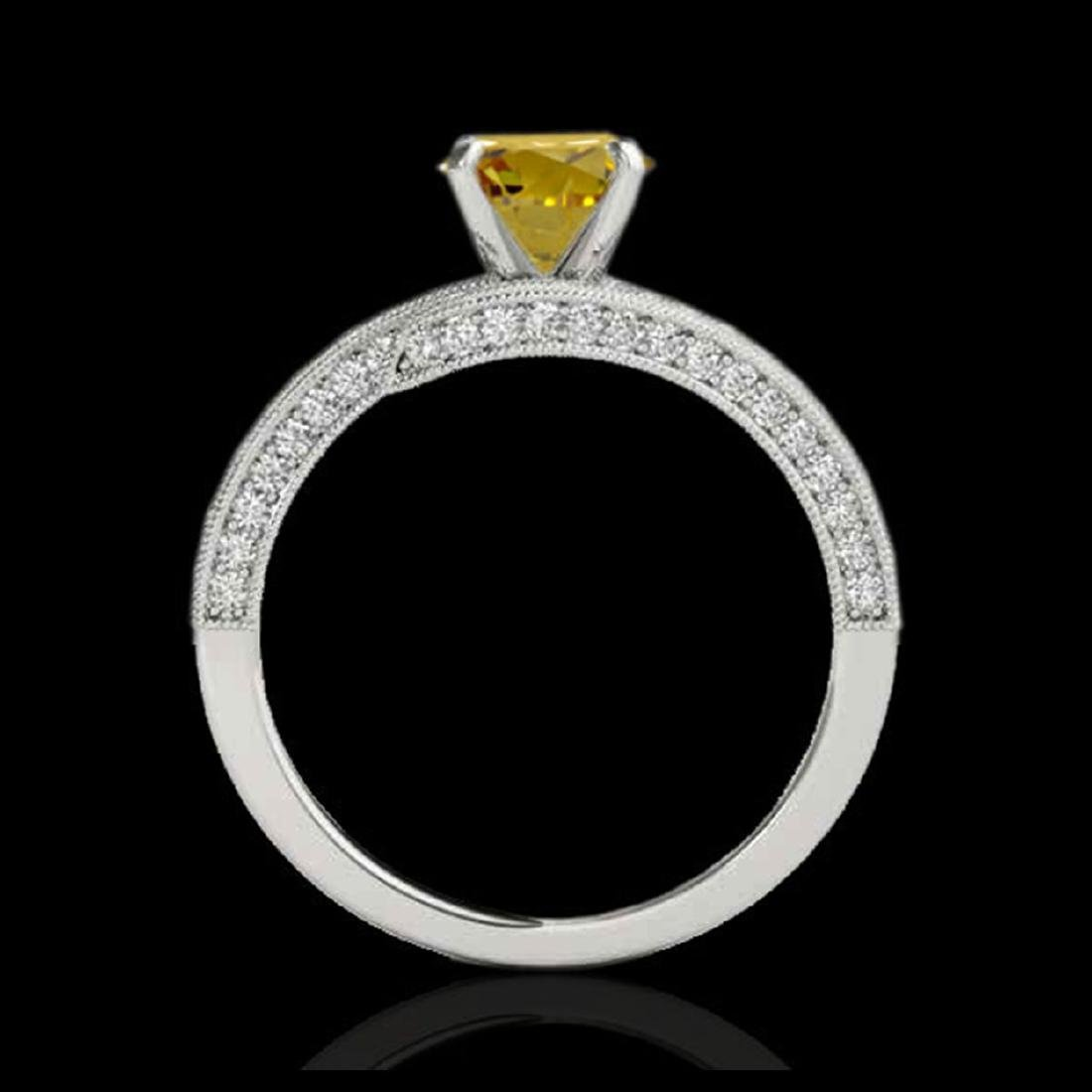 2 CTW SI/I Fancy Intense Yellow Diamond Bypass Ring - 2