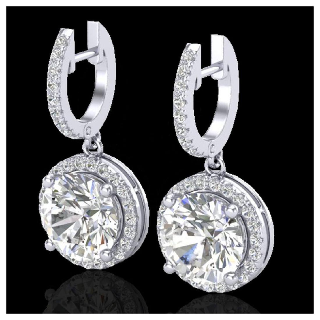 4.50 CTW VS/SI Diamond Halo 18K Gold - REF-1868G2N -