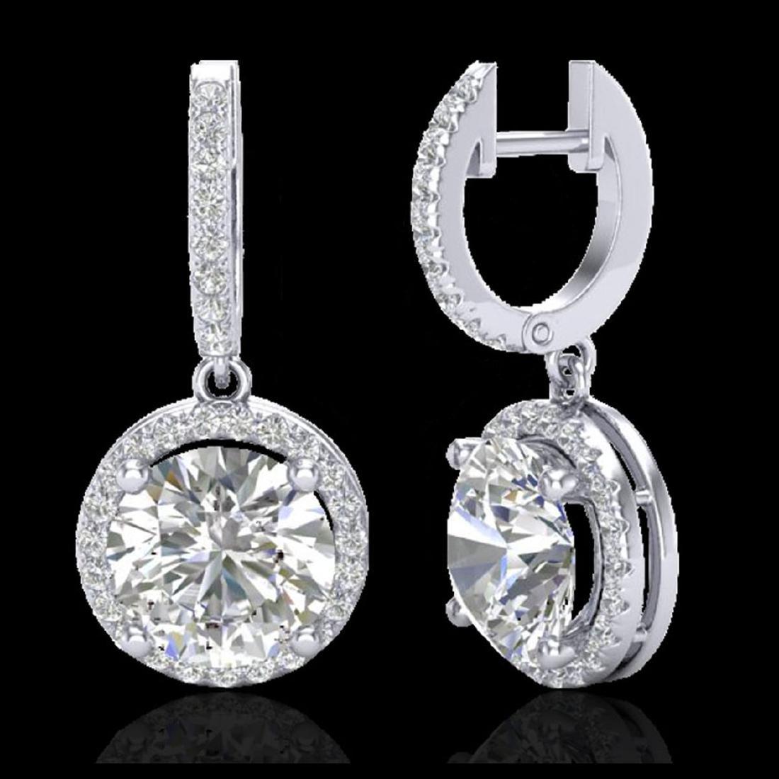 4.50 CTW VS/SI Diamond Halo 18K Gold - REF-1868G2N - - 2