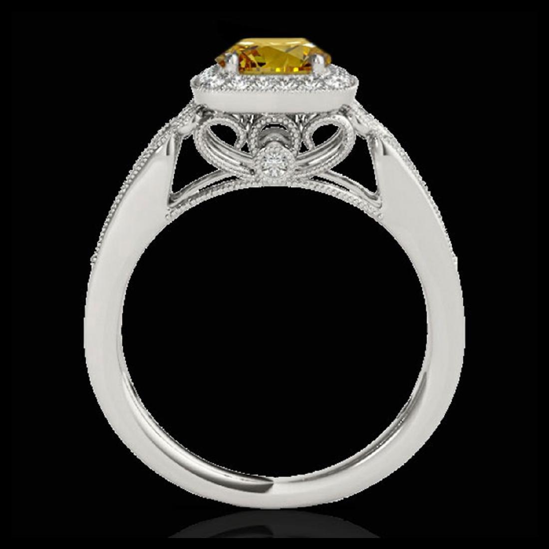 1.30 CTW SI/I Fancy Intense Yellow Diamond Halo Ring - 2