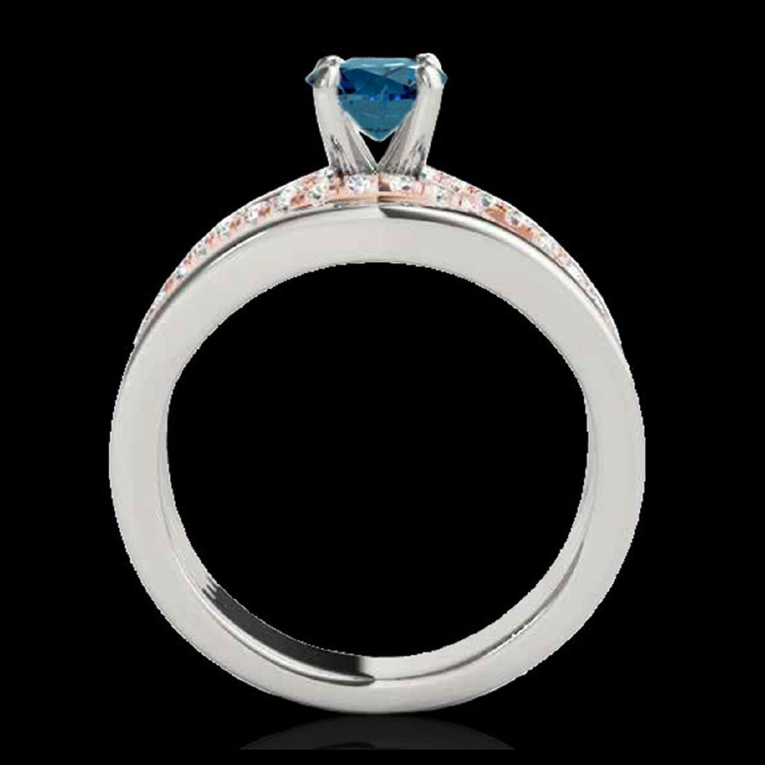 1.55 CTW SI Blue Diamond Solitaire Ring Gold - - 2
