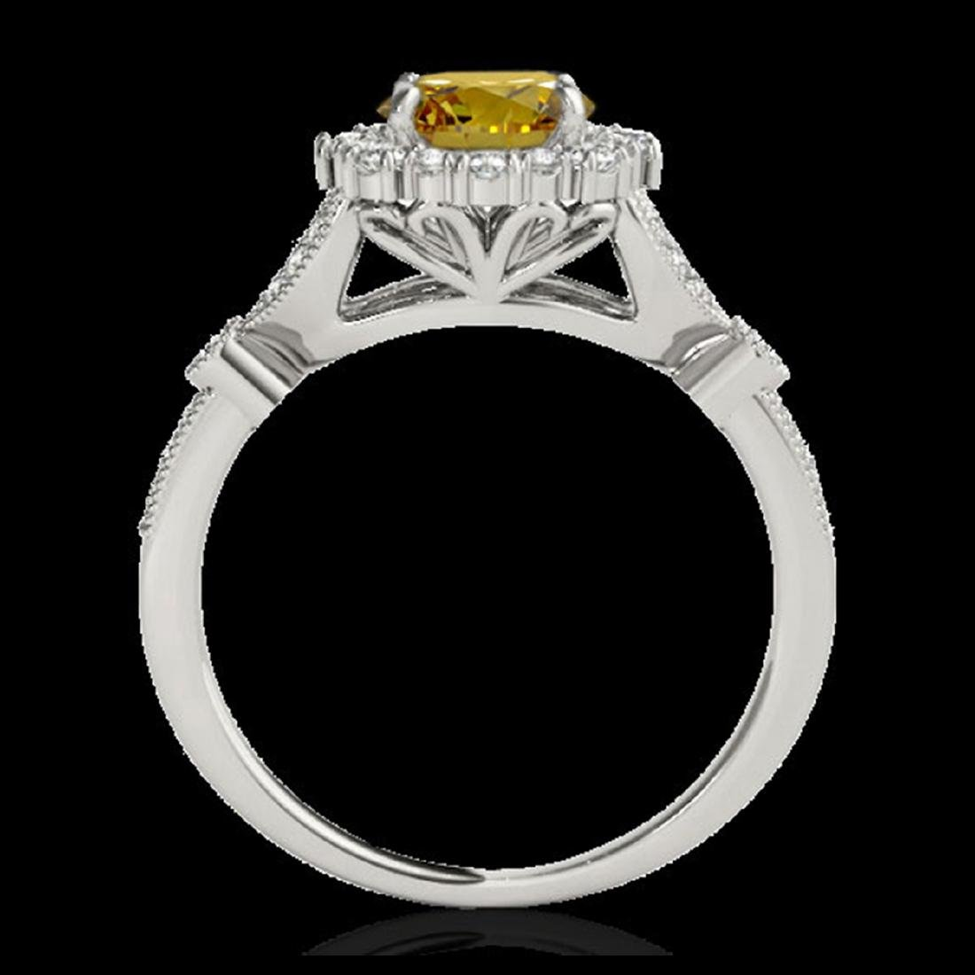 1.5 ctw SI/I Fancy Intense Yellow Diamond Ring 10K - 2