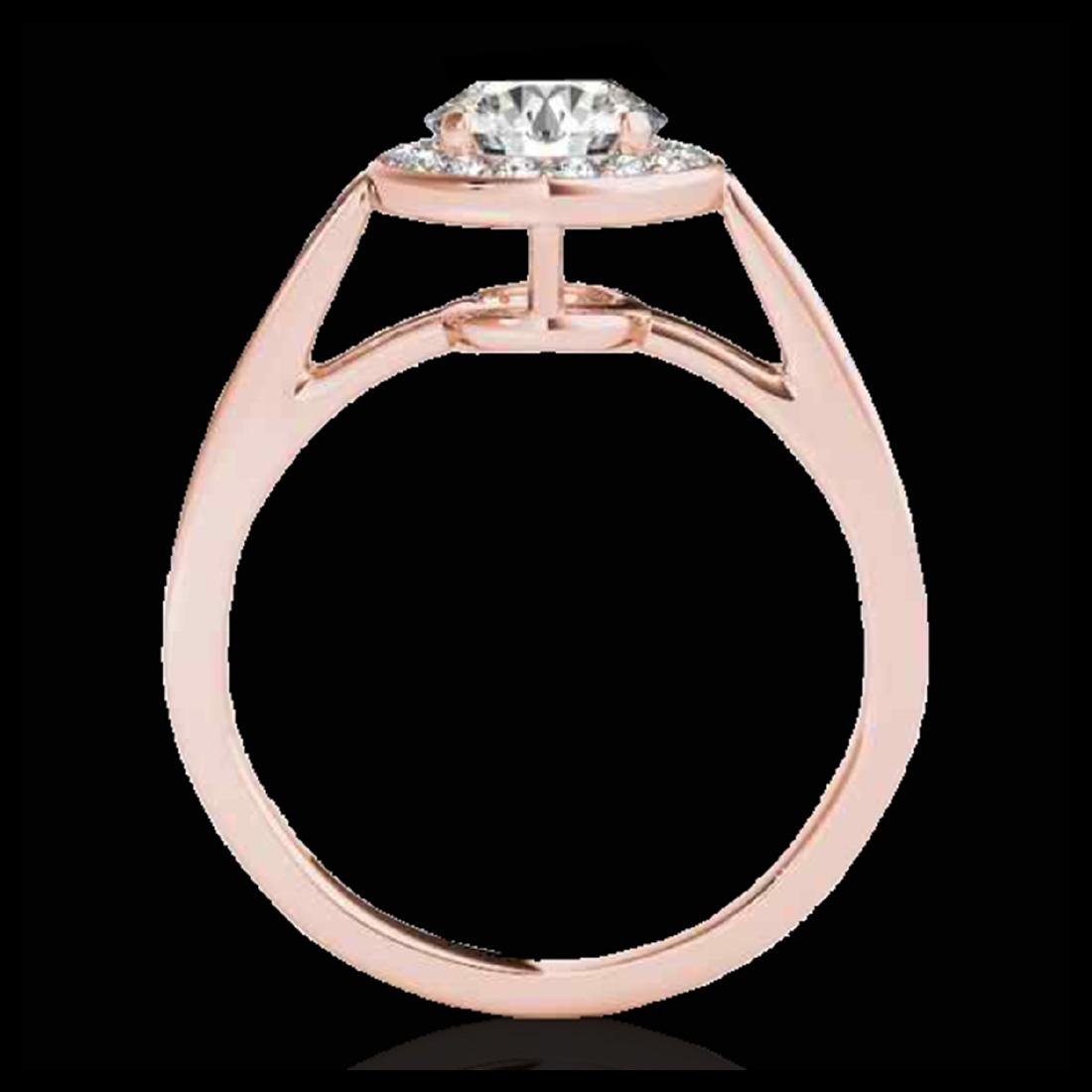 1.45 ctw H-SI/I Diamond Solitaire Halo Ring 10K Rose - 2
