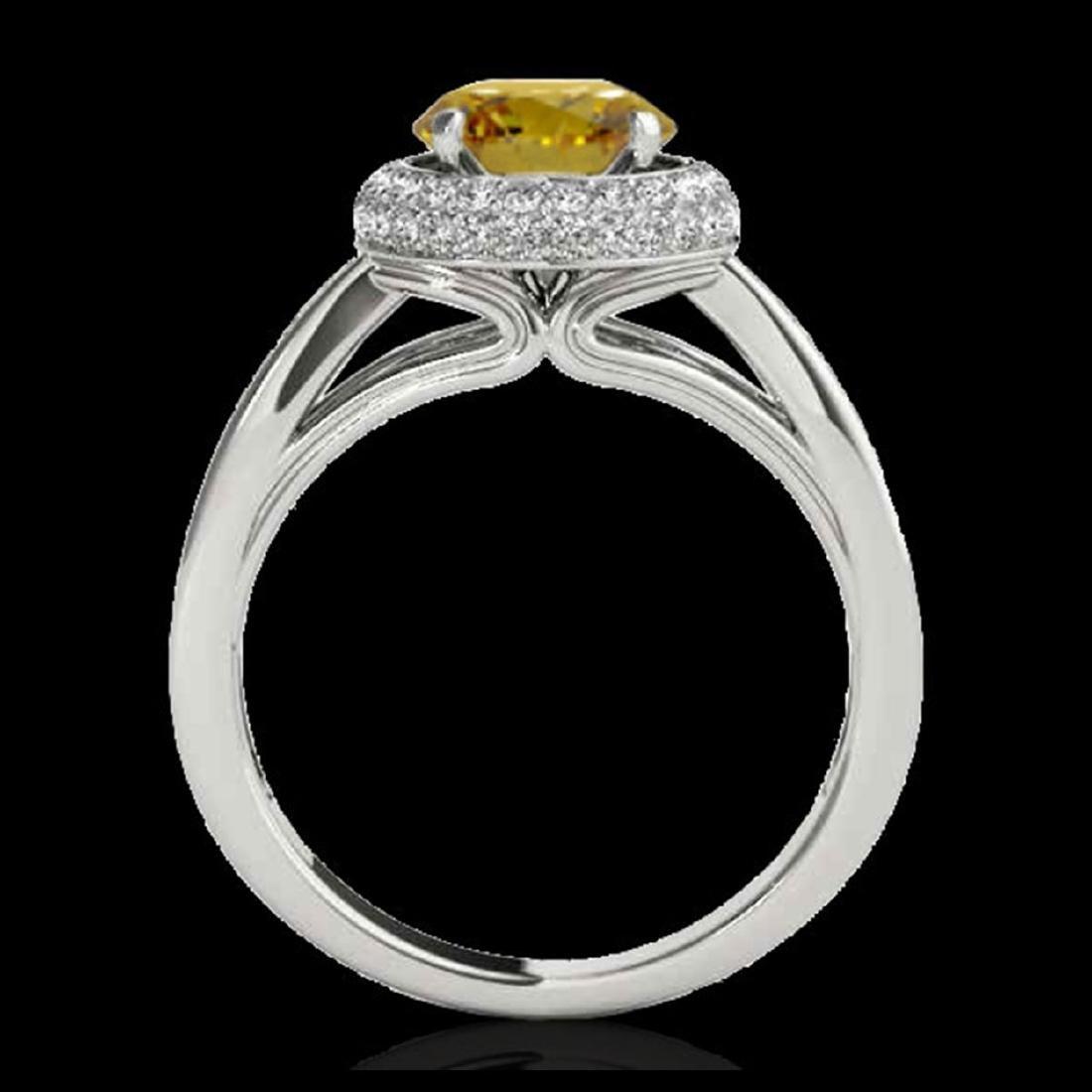2.15 ctw SI/I Fancy Intense Yellow Diamond Ring 10K - 2