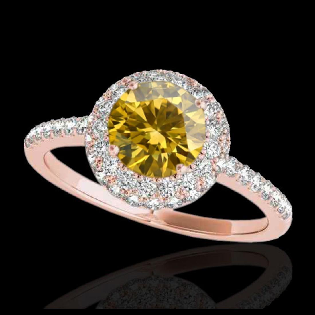 2.15 ctw SI/I Fancy Intense Yellow Diamond Ring 10K