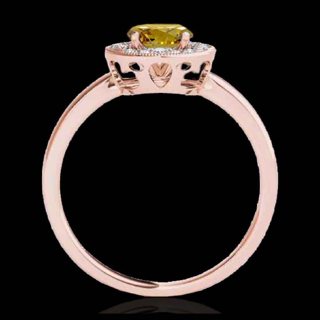 1.15 ctw SI/I Fancy Intense Yellow Diamond Ring 10K - 2