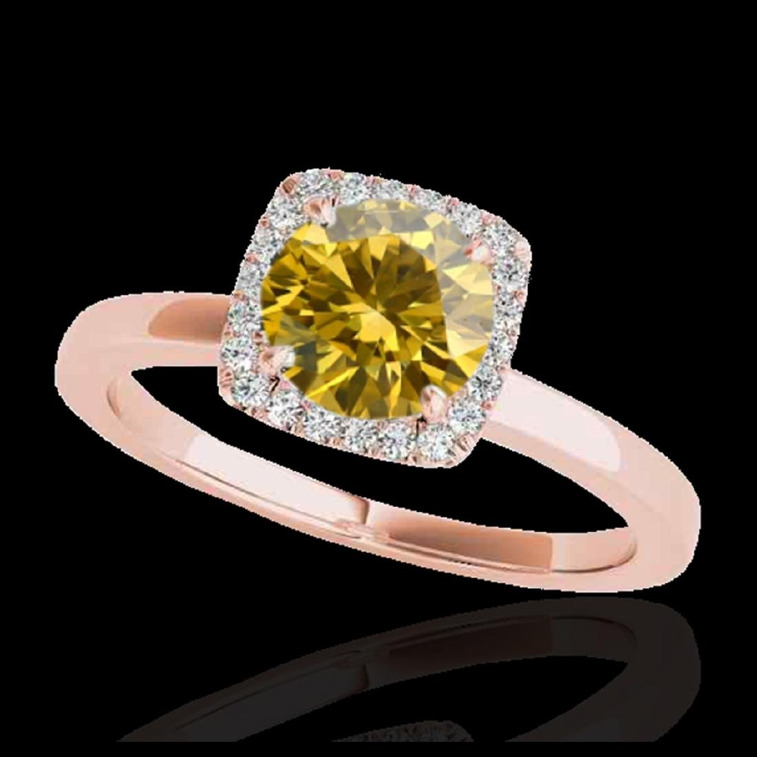 1.15 ctw SI/I Fancy Intense Yellow Diamond Ring 10K
