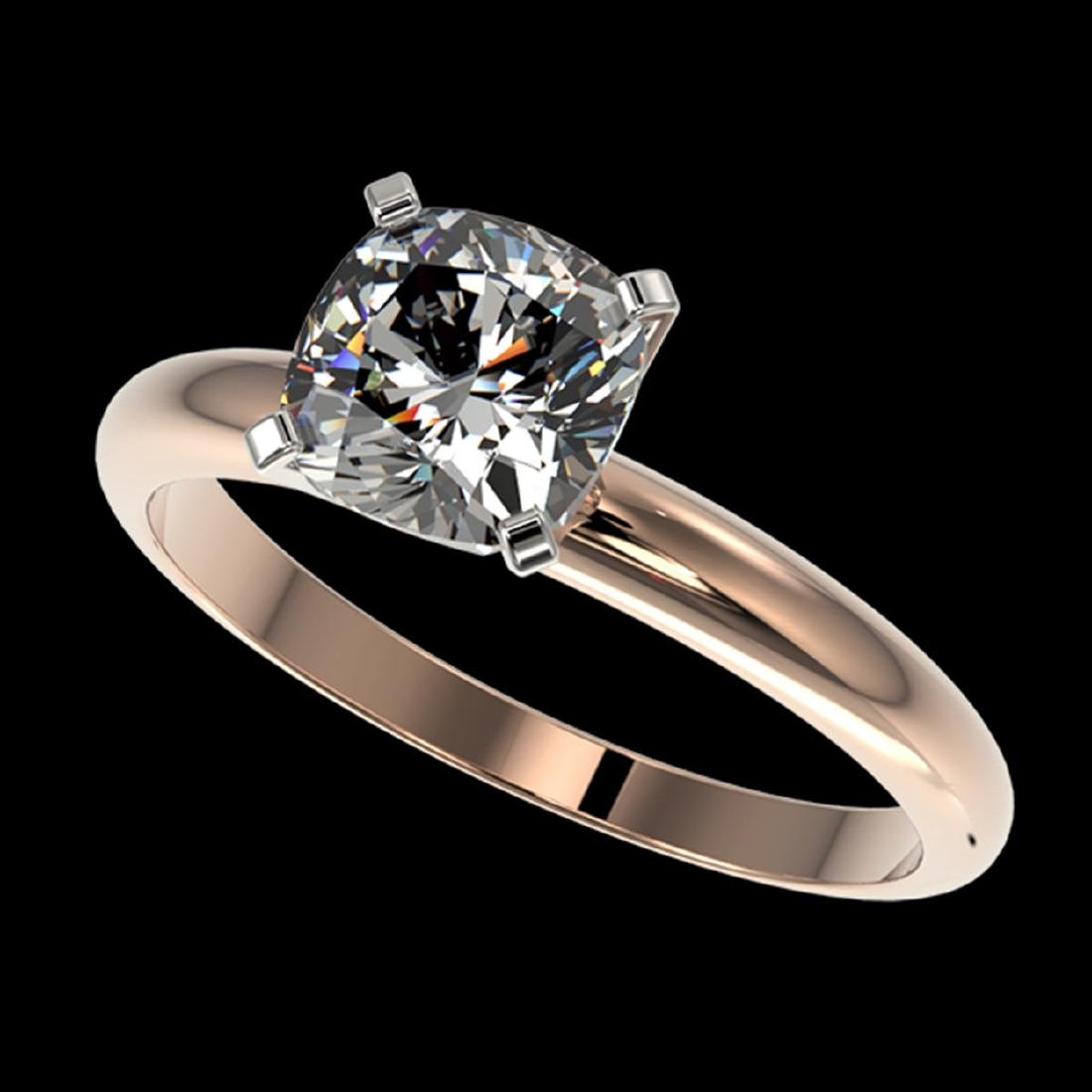 1.25 ctw VS/SI Cushion Cut Diamond Ring 10K Rose Gold -