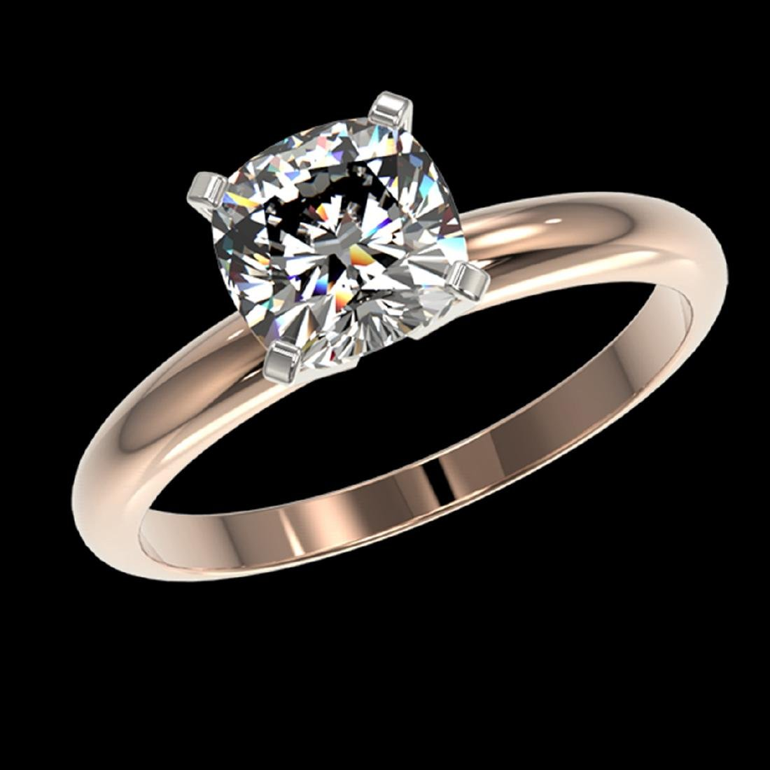 1.25 ctw VS/SI Cushion Cut Diamond Ring 10K Rose Gold - - 2