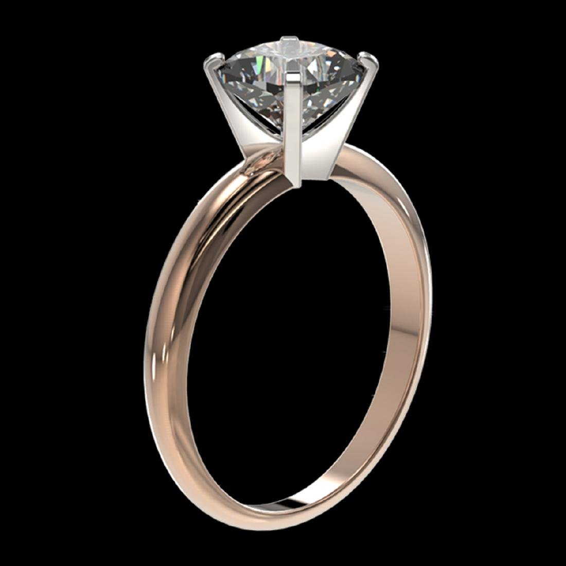 1.25 ctw VS/SI Cushion Cut Diamond Ring 10K Rose Gold - - 3