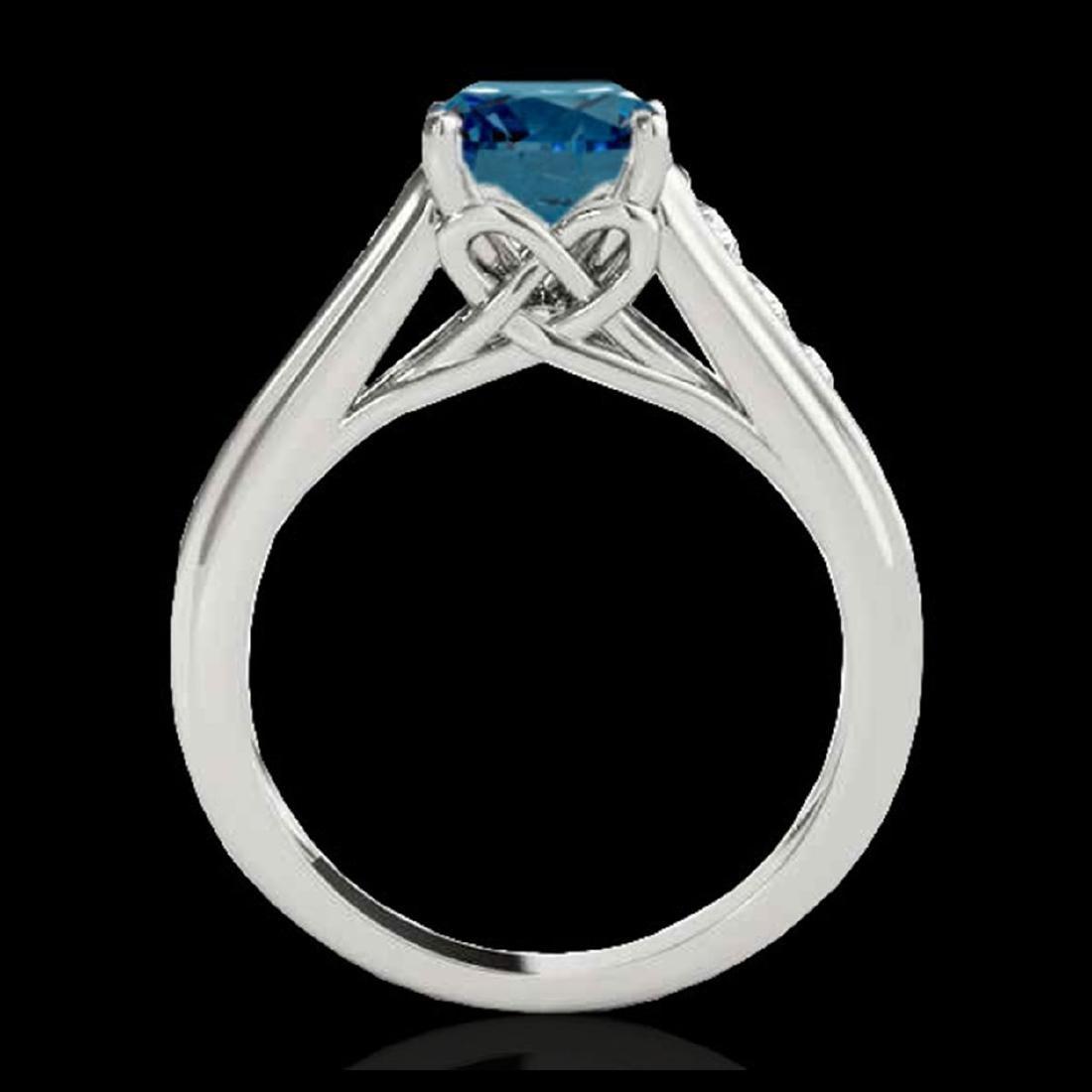1.50 ctw SI Fancy Blue Diamond Solitaire Ring 10K White - 2