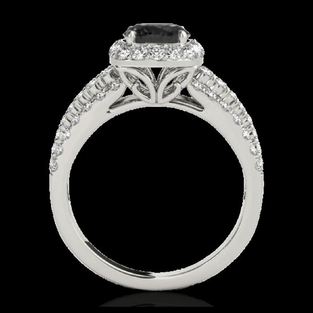 2.25 ctw VS Black Diamond Solitaire Halo Ring 10K White - 2