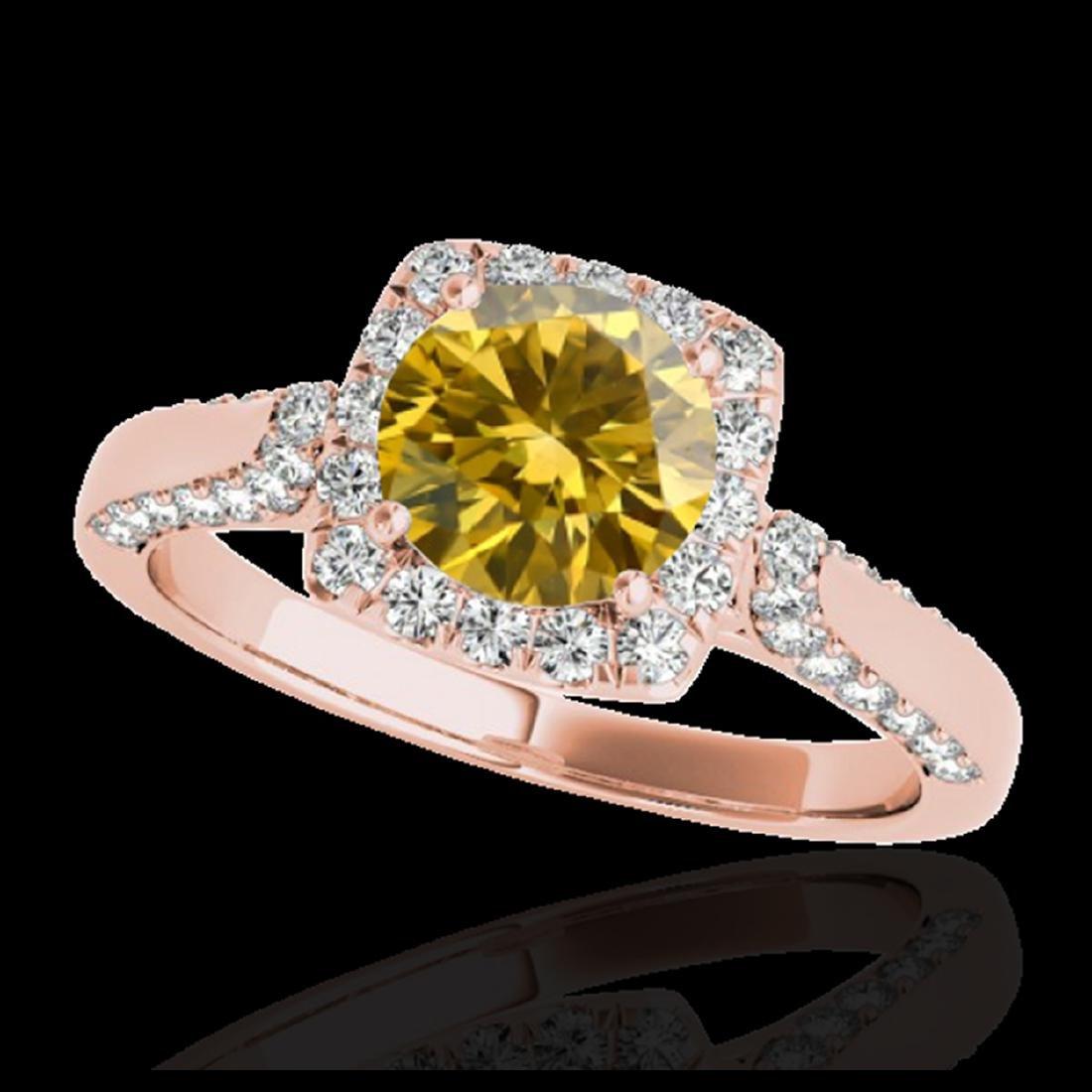 1.50 ctw SI/I Fancy Intense Yellow Diamond Ring 10K