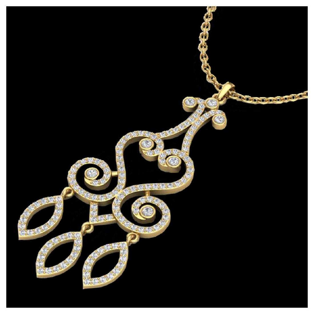 1.60 ctw VS/SI Diamond Necklace 14K Yellow Gold -