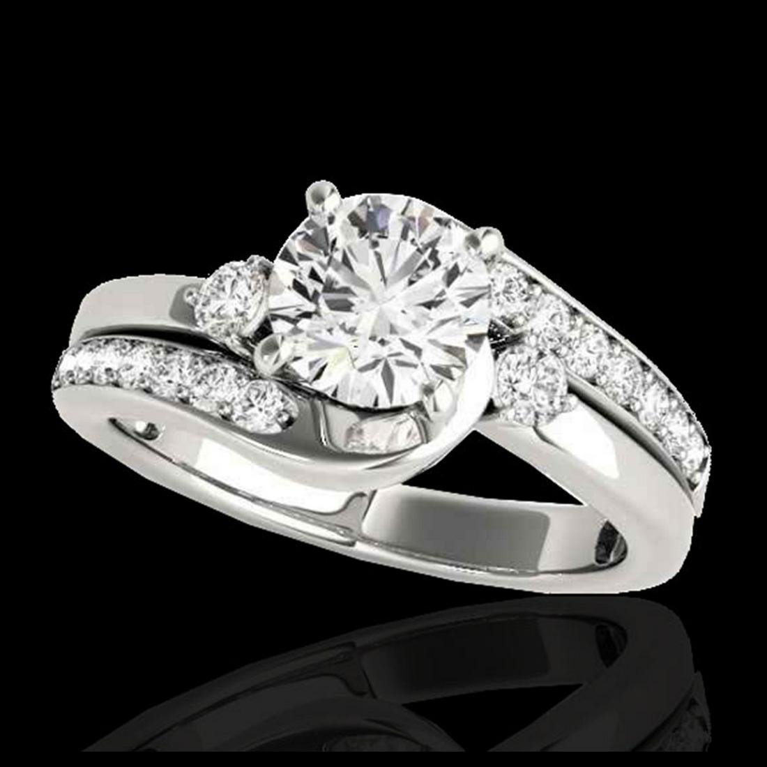 2 ctw H-SI/I Diamond Bypass Solitaire Ring 10K White