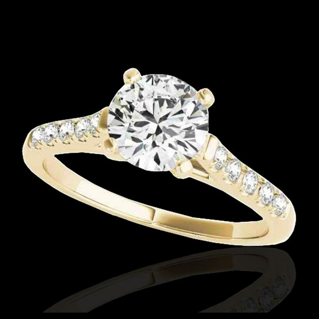 1.45 ctw H-SI/I Diamond Solitaire Ring 10K Yellow Gold