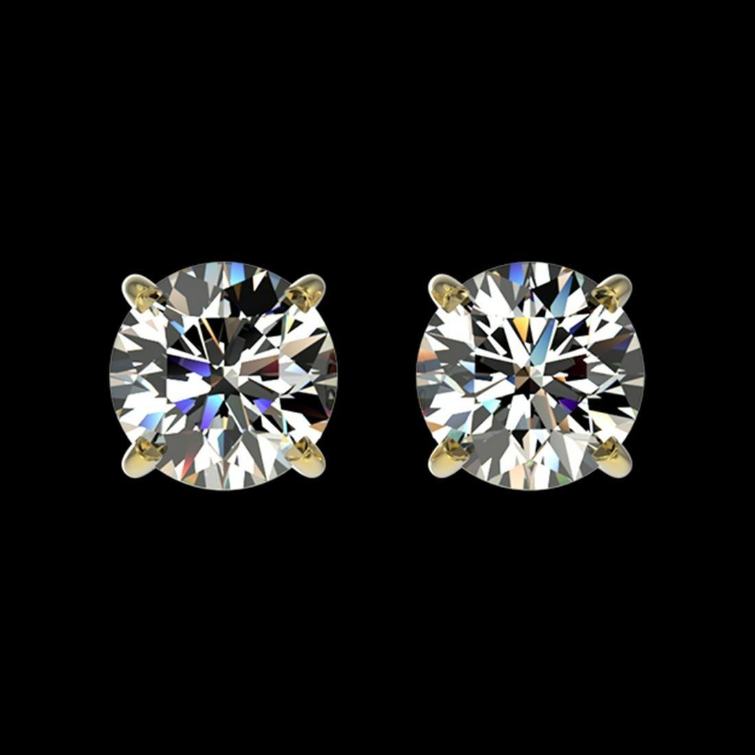 1.05 ctw H-SI/I Diamond Stud Earrings 10K Yellow Gold -