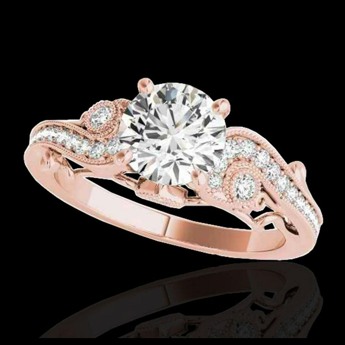 1.50 ctw H-SI/I Diamond Solitaire Ring 10K Rose Gold -