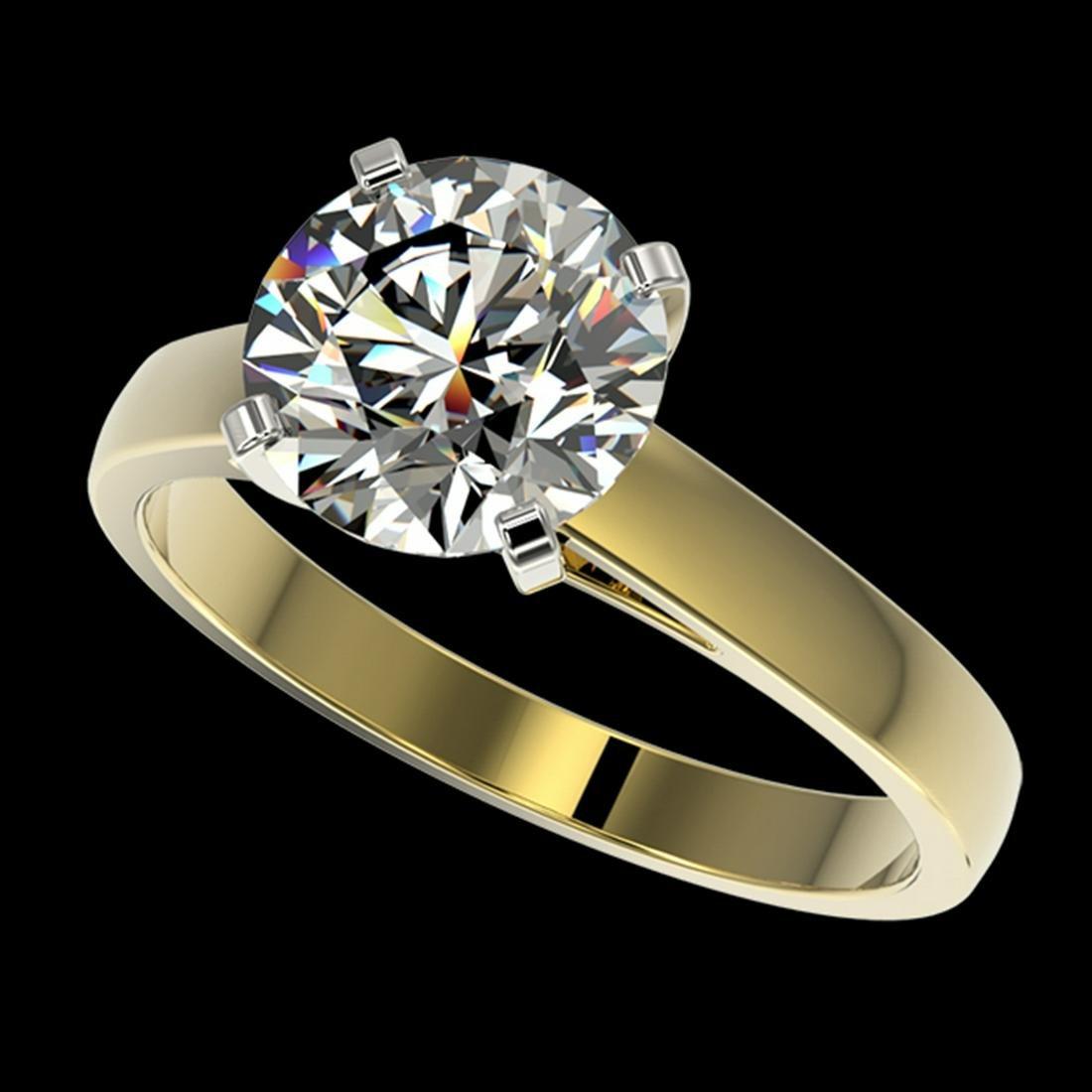 2.55 ctw H-SI/I Diamond Ring 10K Yellow Gold -