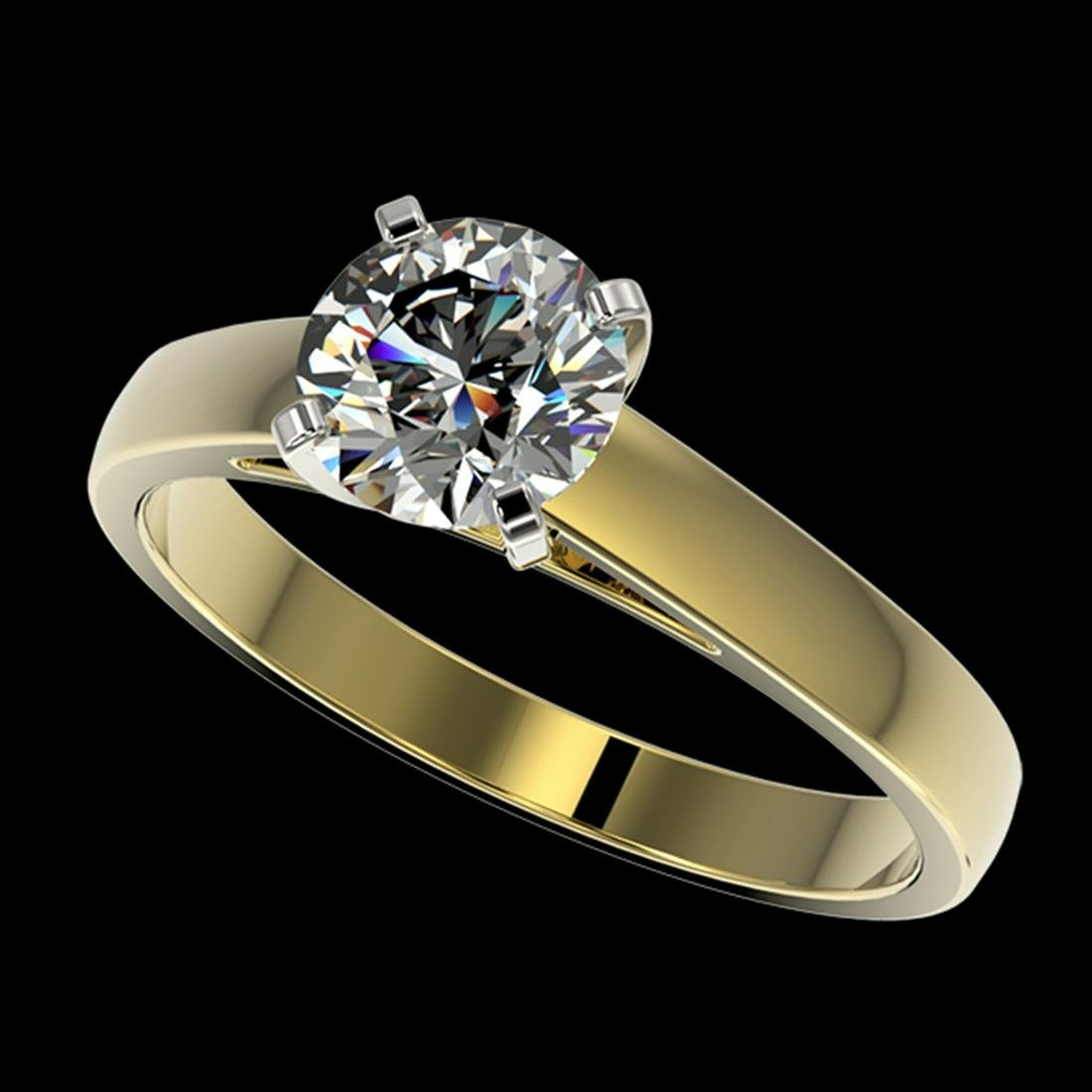1.26 ctw H-SI/I Diamond Ring 10K Yellow Gold -