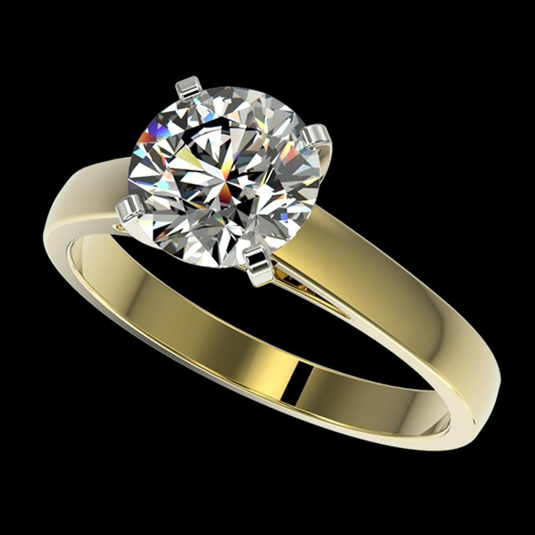 2.05 ctw H-SI/I Diamond Ring 10K Yellow Gold -