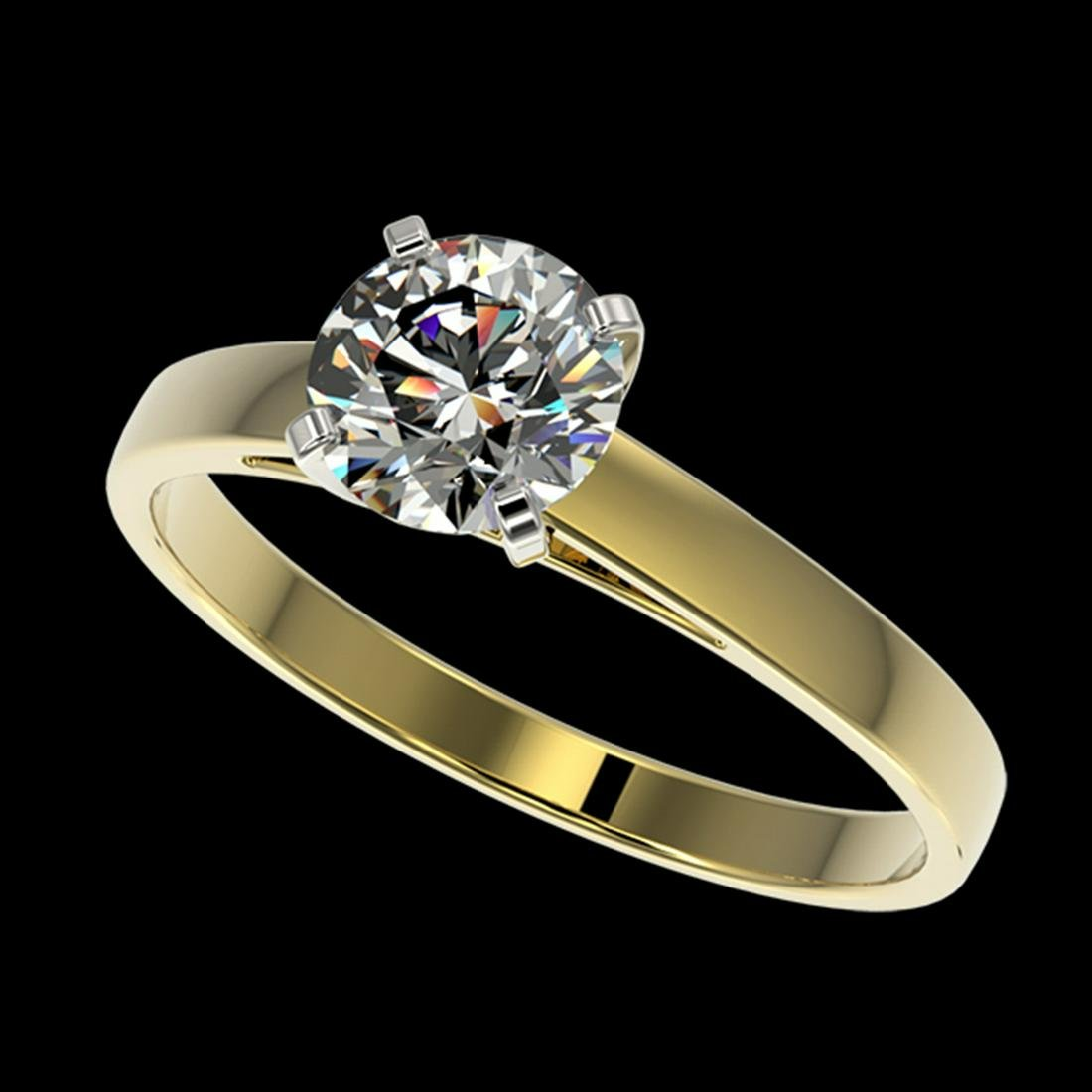1.07 ctw H-SI/I Diamond Ring 10K Yellow Gold -