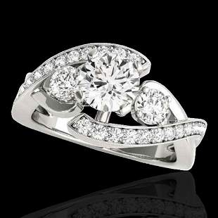 2.26 ctw Certified Diamond Bypass Solitaire Ring 10k