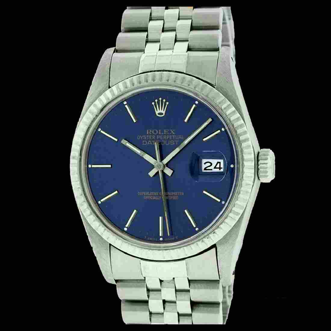 Rolex Men's Stainless Steel, QuickSet, Index Bar Dial,