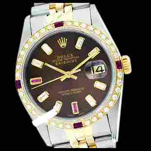 Rolex Men's Two Tone 14K Gold/SS, QuickSet, Diam/Ruby