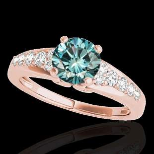 1.40 ctw SI Certified Fancy Blue Diamond Solitaire Ring