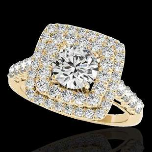 2.3 ctw Certified Diamond Solitaire Halo Ring 10k