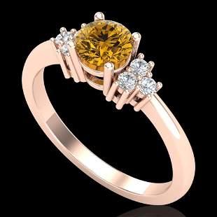 0.75 ctw Intense Fancy Yellow Diamond Engagment Ring