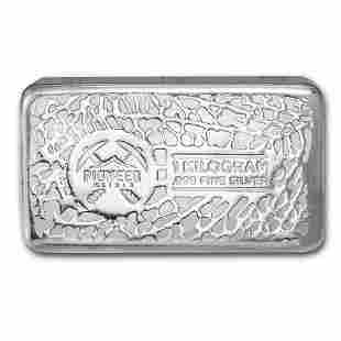 One piece 1 kilo 0.999 Fine Silver Bar Pioneer Metals -