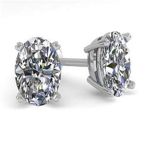 1.02 ctw Oval Cut VS/SI Diamond Stud Designer Earrings