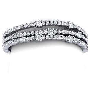 15 ctw Certified VS/SI Diamond Bracelet 18K White Gold